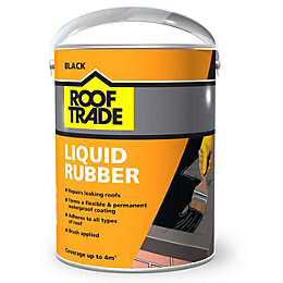 Rooftrade Black Liquid Rubber Roof Sealant 4L