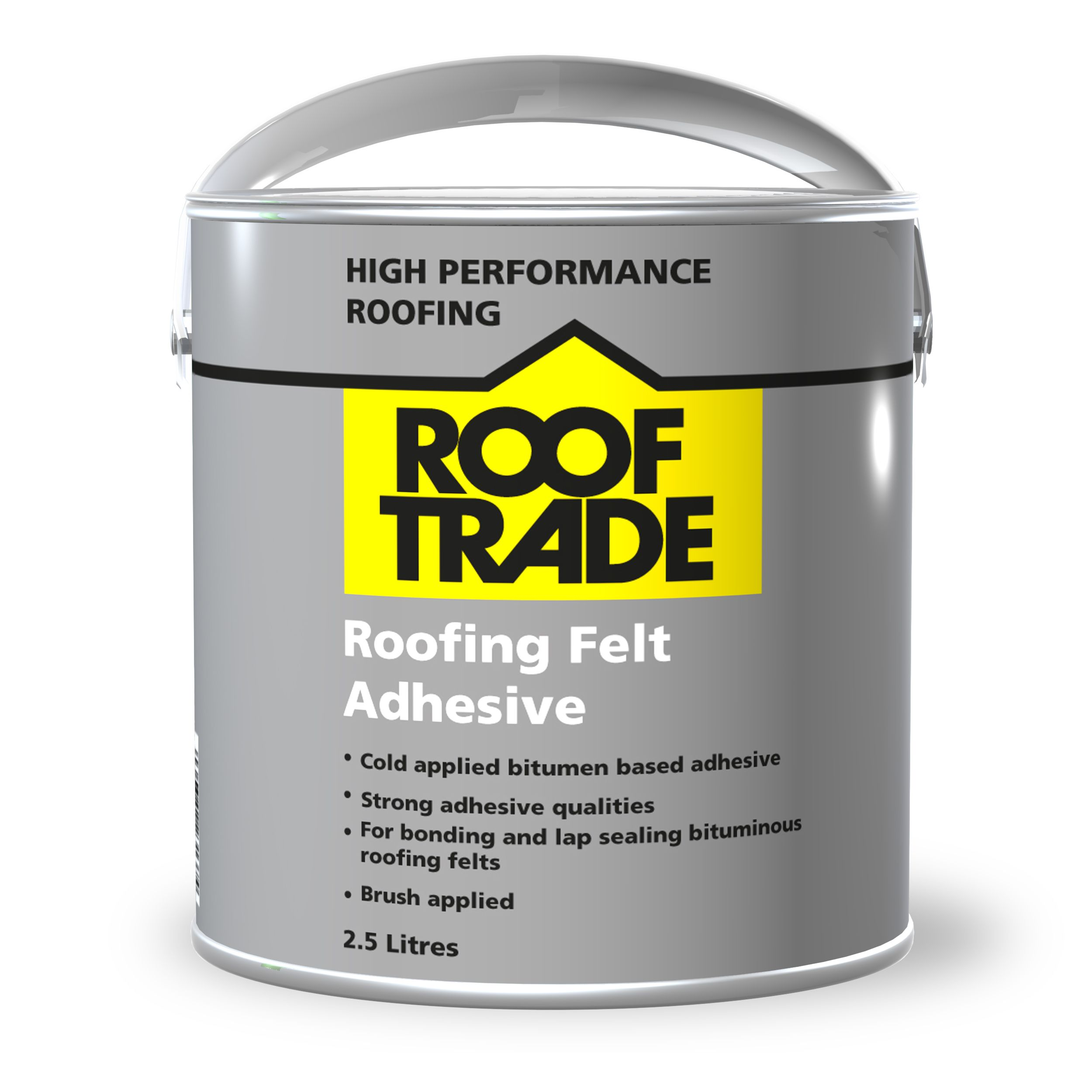 Rooftrade Black Roofing Felt Adhesive 2500ml Departments