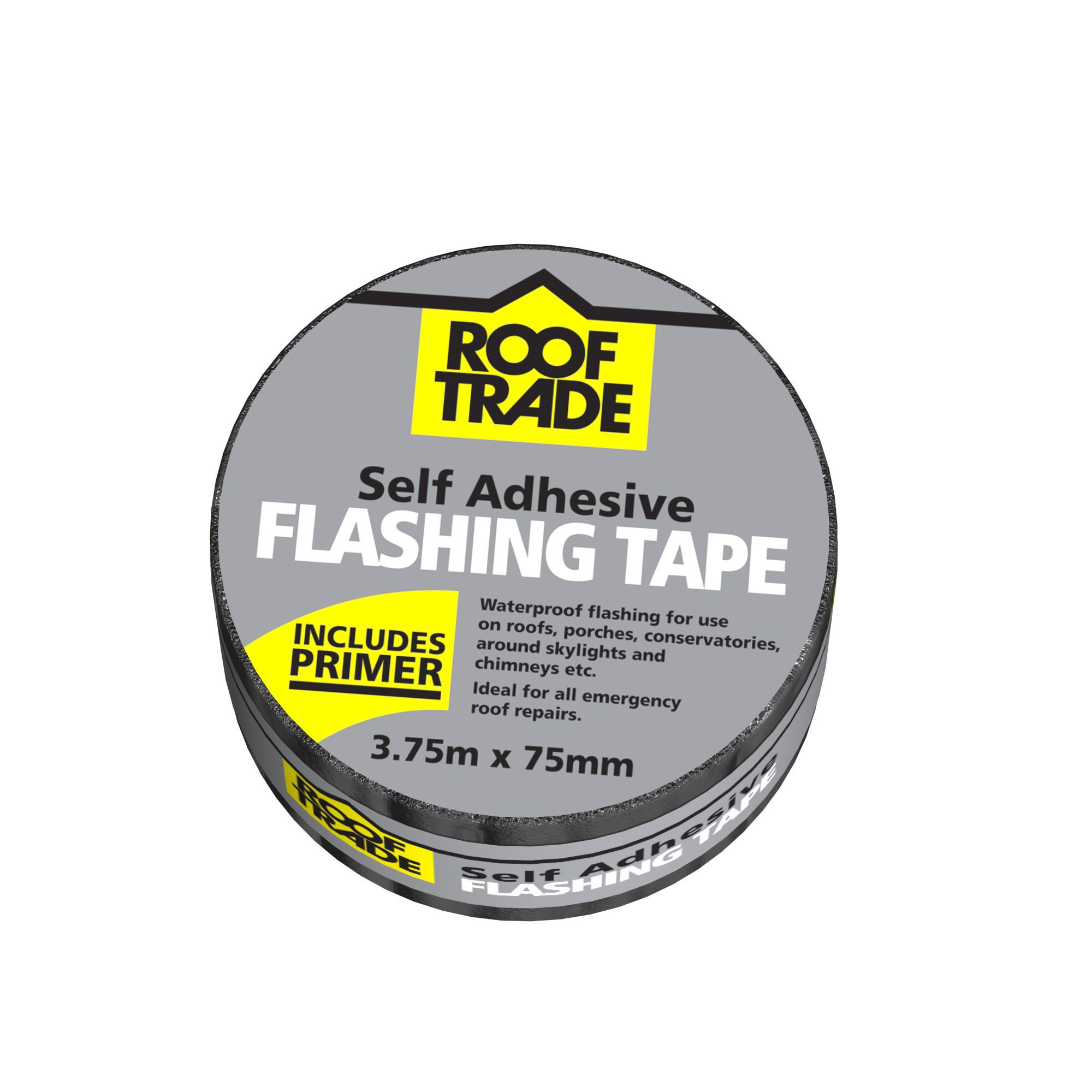 Evo-stik Rooftrade Grey Flashing Tape (l)3.75m (w)75mm