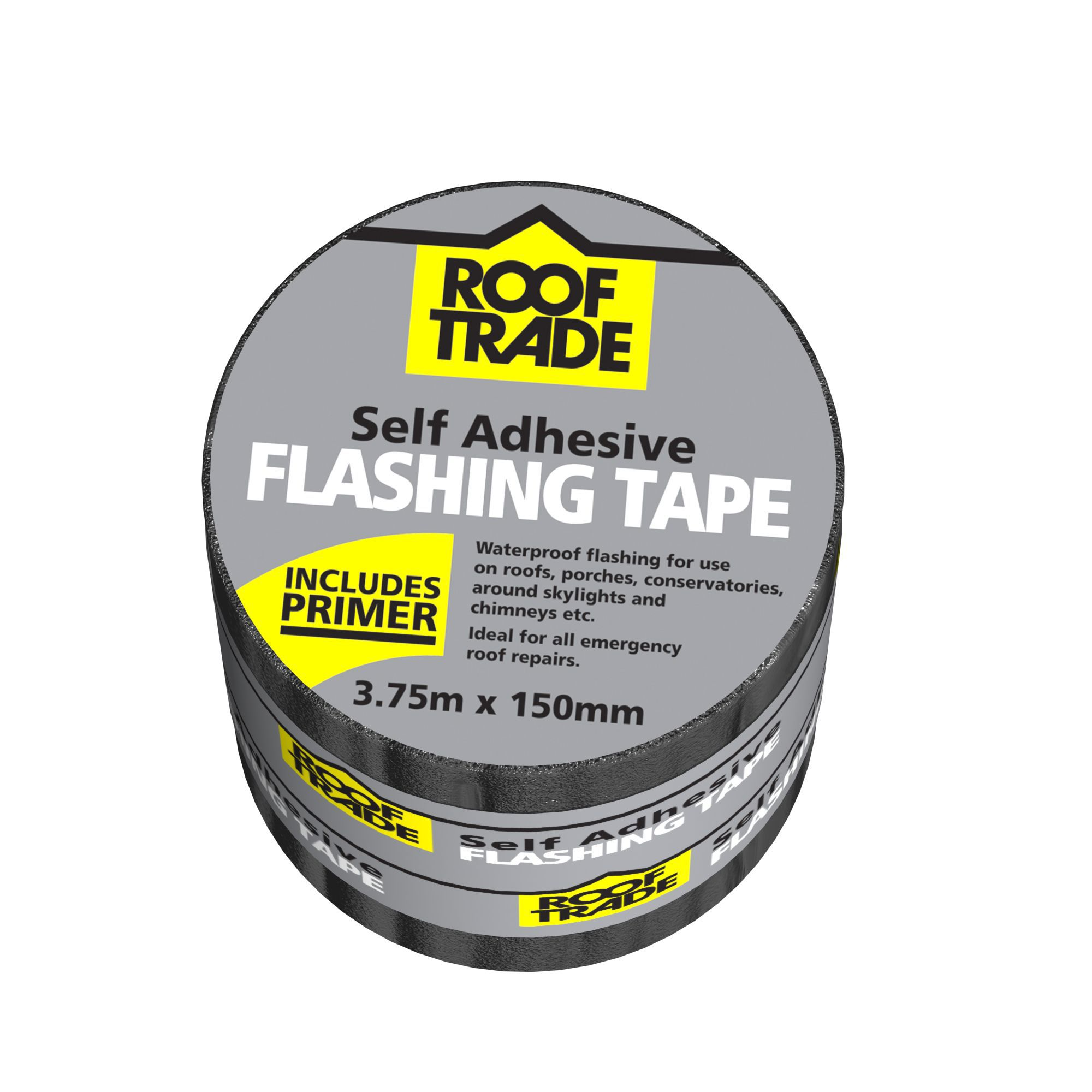 Evo-stik Rooftrade Grey Flashing Tape (l)3.75m (w)150mm