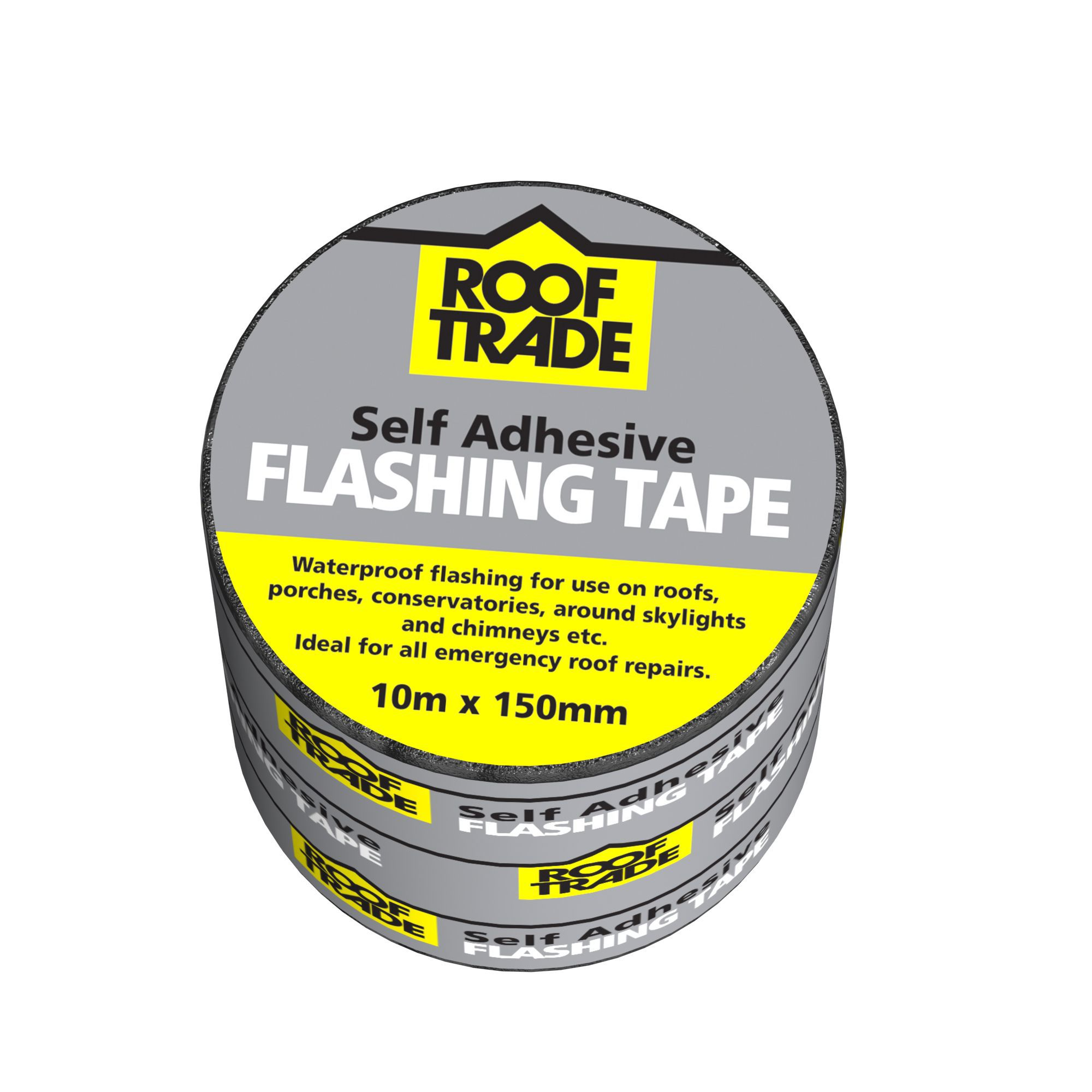 Evo-stik Rooftrade Grey Flashing Tape (l)10m (w)150mm