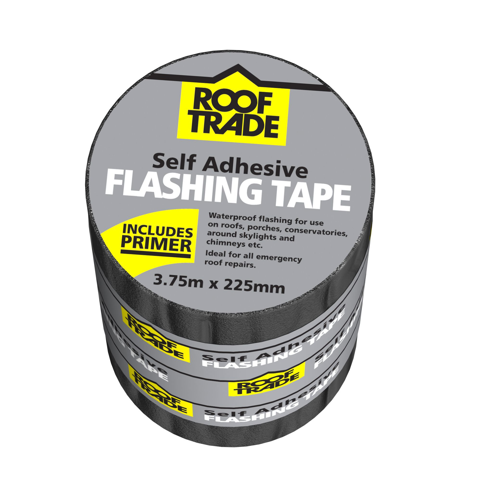 Evo-stik Rooftrade Grey Flashing Tape (l)3.75m (w)225mm