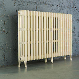 Arroll Neo-Classic 4 Column Radiator, Cream (W)1234mm (H)760mm