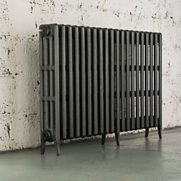 Arroll Neo-Classic 4 Column Radiator, Cast Grey (W)1234mm