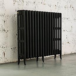 Arroll Neo-Classic 4 Column Radiator, Black Primer (W)874mm