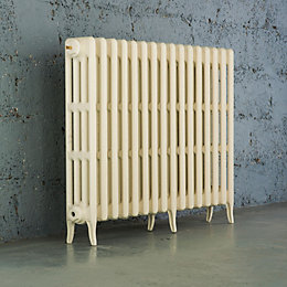 Arroll Neo-Classic 4 Column Radiator, Cream (W)874mm (H)760mm