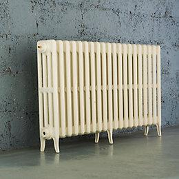 Arroll Neo-Classic 4 Column Radiator, Cream (W)1114mm (H)660mm