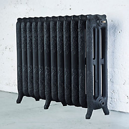 Arroll Montmartre 3 Column Radiator, Black Primer (W)994mm