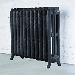 Arroll Montmartre 3 Column Radiator, Black Primer (W)914mm
