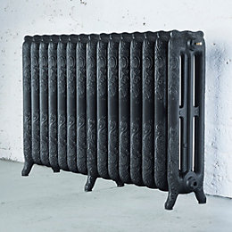 Arroll Montmartre 3 Column Radiator, Pewter (W)1234 mm