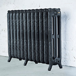 Arroll Montmartre 3 Column Radiator, Pewter (W)994mm (H)760mm