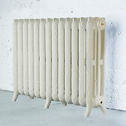 Arroll Montmartre 3 Column Radiator, Cream (W)1154mm (H)760mm