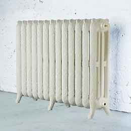 Arroll Montmartre 3 Column Radiator, Cream (W)1074mm (H)760mm