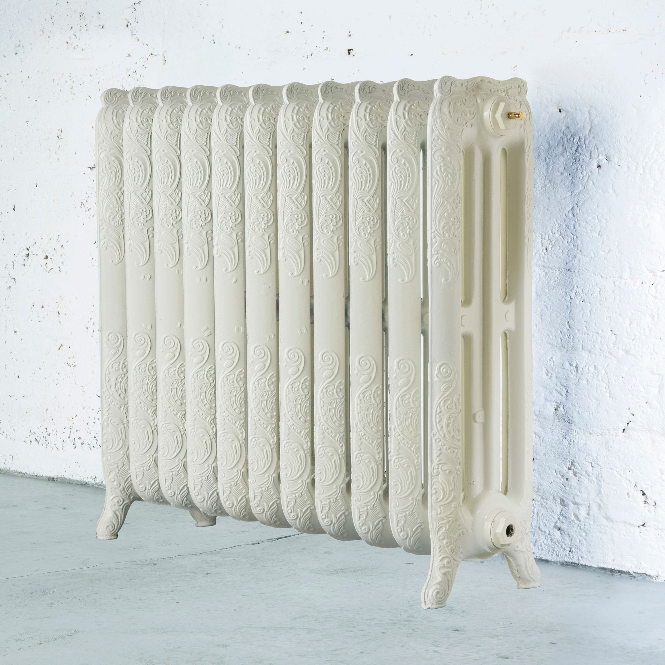 Arroll Montmartre 3 Column Radiator, Cream (W)914 mm