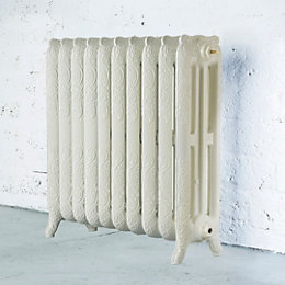 Arroll Montmartre 3 Column Radiator, Cream (W)834mm (H)760mm