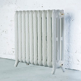 Arroll Montmartre 3 Column Radiator, White (W)914mm (H)760mm