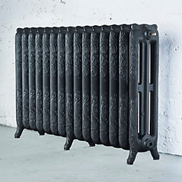Arroll Montmartre 3 Column Radiator, Anthracite (W)1234mm
