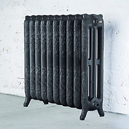 Arroll Montmartre 3 Column Radiator, Anthracite (W)834mm (H)760mm