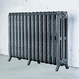 Arroll Montmartre 3 Column Radiator, Cast Grey (W)1154mm