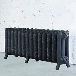 Arroll Montmartre 3 Column Radiator, Black Primer (W)1154mm