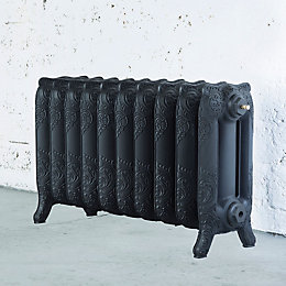 Arroll Montmartre 3 Column Radiator, Black Primer (W)834mm