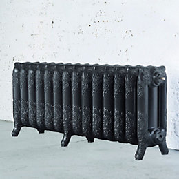 Arroll Montmartre 3 Column Radiator, Pewter (W)1154mm (H)470mm