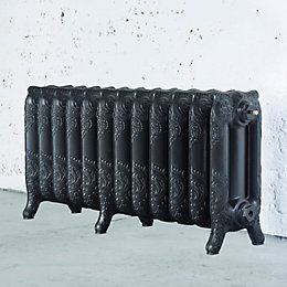 Arroll Montmartre 3 Column Radiator, Pewter (W)994mm (H)470mm