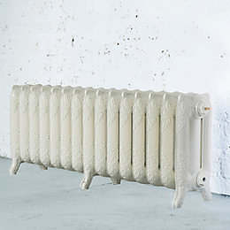 Arroll Montmartre 3 Column Radiator, Cream (W)1234mm (H)470mm