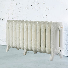 Arroll Montmartre 3 Column Radiator, Cream (W)994mm (H)470mm