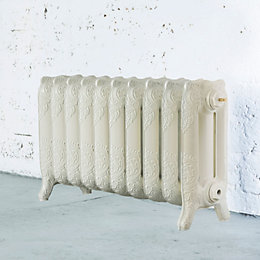 Arroll Montmartre 3 Column Radiator, Cream (W)834mm (H)470mm