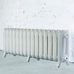 Arroll Montmartre 3 Column Radiator, White (W)1234mm (H)470mm