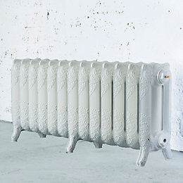 Arroll Montmartre 3 Column Radiator, White (W)1074mm (H)470mm