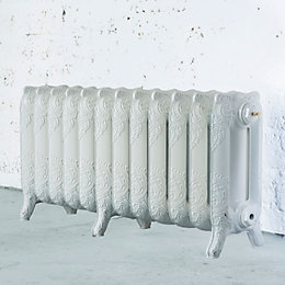 Arroll Montmartre 3 Column Radiator, White (W)994mm (H)470mm