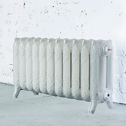 Arroll Montmartre 3 Column Radiator, White (W)914mm (H)470mm