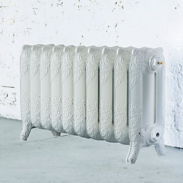 Arroll Montmartre 3 Column Radiator, White (W)834mm (H)470mm