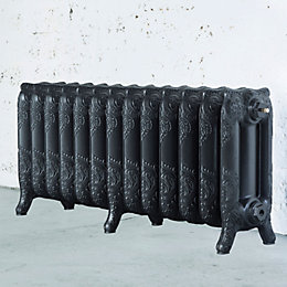 Arroll Montmartre 3 Column Radiator, Anthracite (W)1074mm