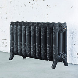 Arroll Montmartre 3 Column Radiator, Anthracite (W)834mm (H)470mm
