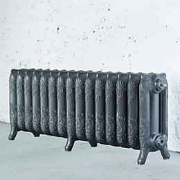 Arroll Montmartre 3 Column Radiator, Cast Grey (W)1234mm
