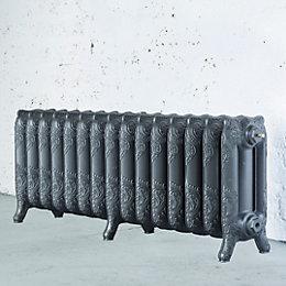 Arroll Montmartre 3 Column Radiator, Cast Grey (W)1234mm