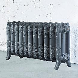 Arroll Montmartre 3 Column Radiator, Cast Grey (W)914mm
