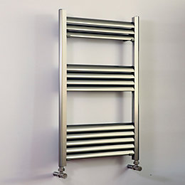 Accuro Korle Champagne Brushed Aluminium Towel Warmer (H)800mm