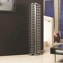Accuro Korle Totem Vertical Radiator Stainless Steel, (H)1325