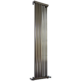Accuro Korle Zephyra Vertical Radiator Brushed, (H)1500 mm