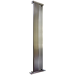 Accuro Korle Zephyra Vertical Radiator Brushed (H)1800 mm