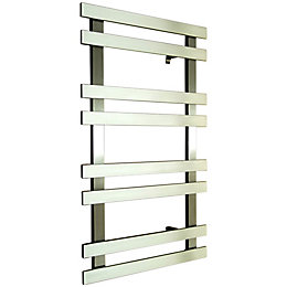 Accuro Korle Daisy Silver Towel Warmer (H)840mm (W)500mm