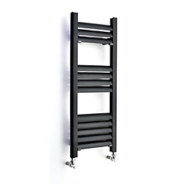 Accuro Korle Champagne Vertical Towel Warmer Anthracite, (H)800