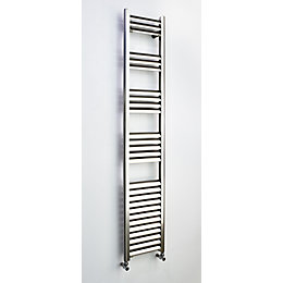 Accuro Korle Champagne Vertical Towel Warmer Brushed Aluminium