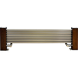 Excel Horizontal Designer Radiator Dark Brown Brushed Aluminium