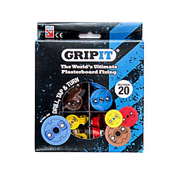 GripIt Plasterboard Fixing Starter Set, 20 Pieces