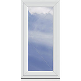White PVCu LH Side Hung Window (H)1040mm (W)640mm